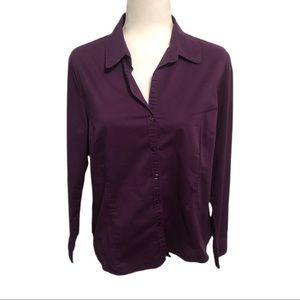 George Button Down Shirt, Purple, Size L